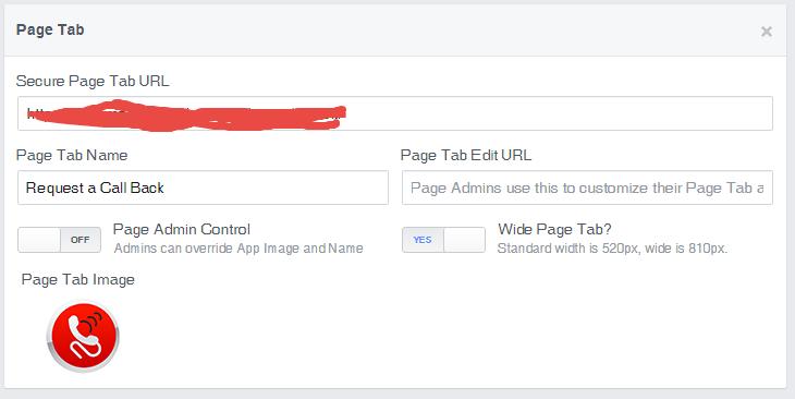 facebook uygulama sayfa tabı